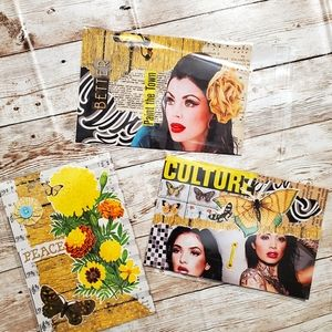 Handcrafted postcards, journal cards